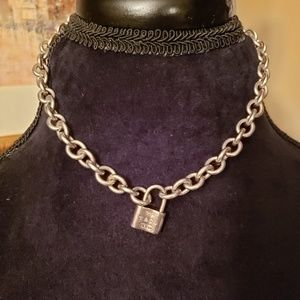 TIFFANY & CO Lock necklace .925 sterling silver